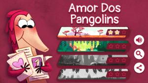 Dia dos namorados doodle google pangolim