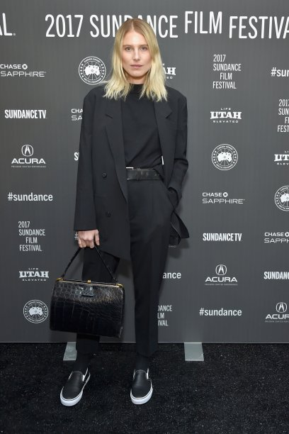 <strong>Dree Hemingway</strong> veste <strong>Second Layer</strong>.
