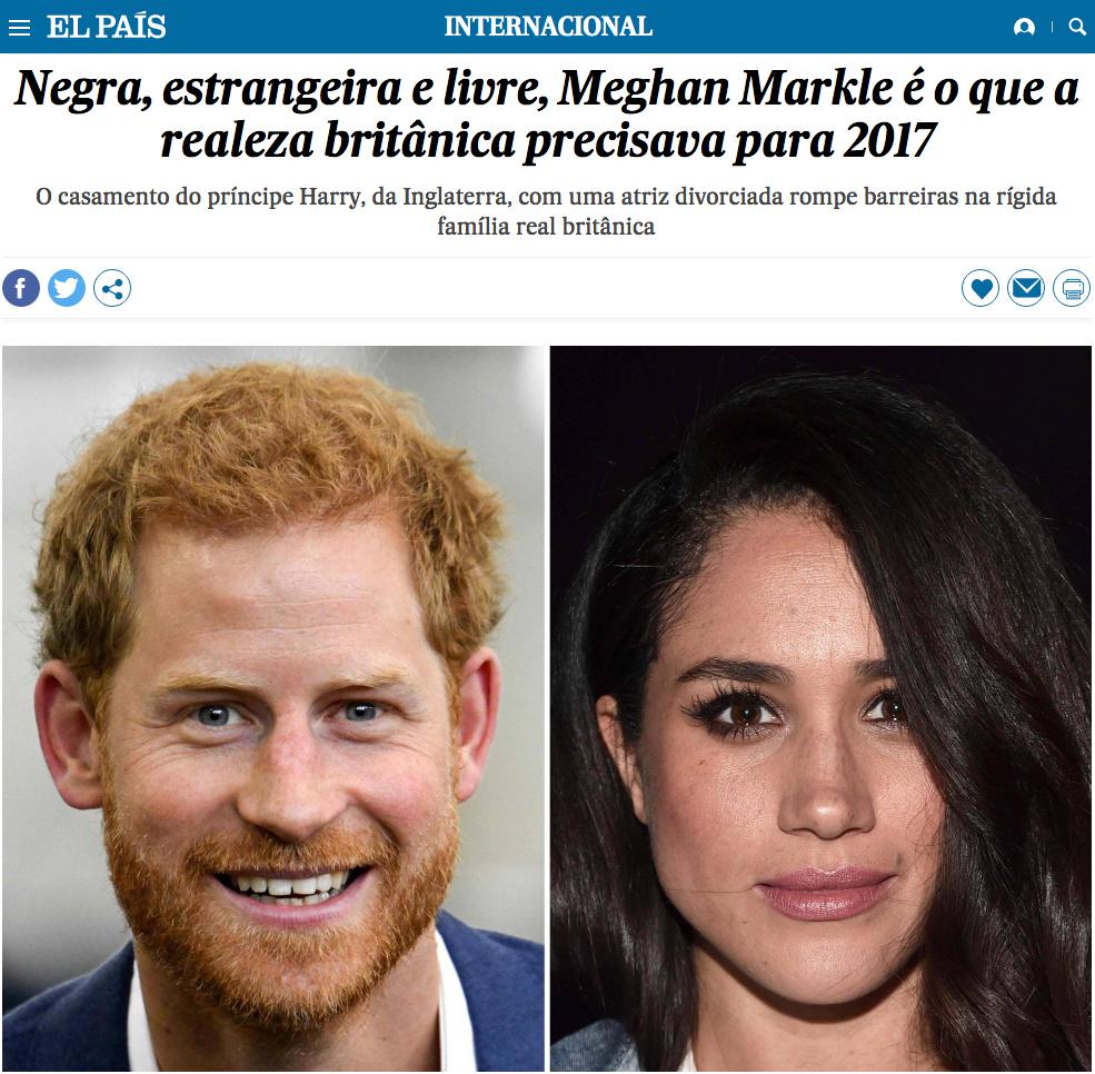 Meghan e Harry no El País