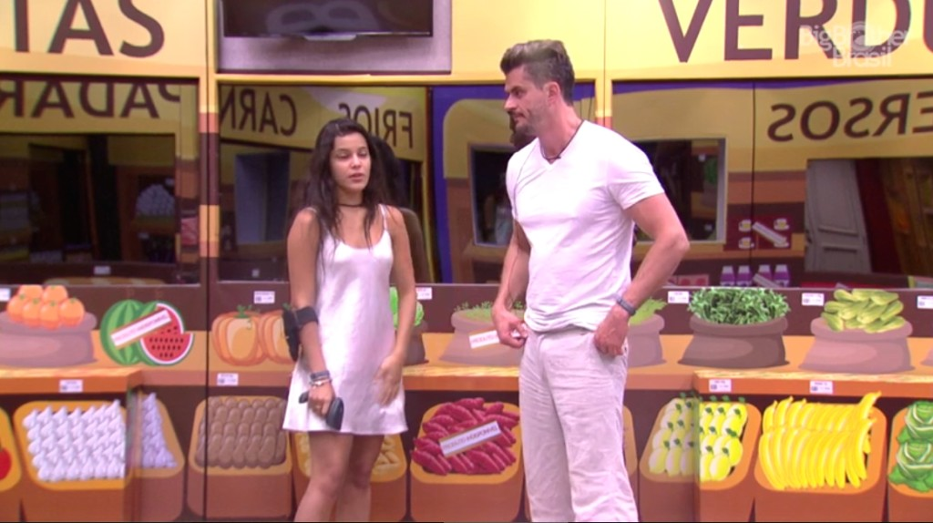 Marcos e Emilly no mercado BBB17