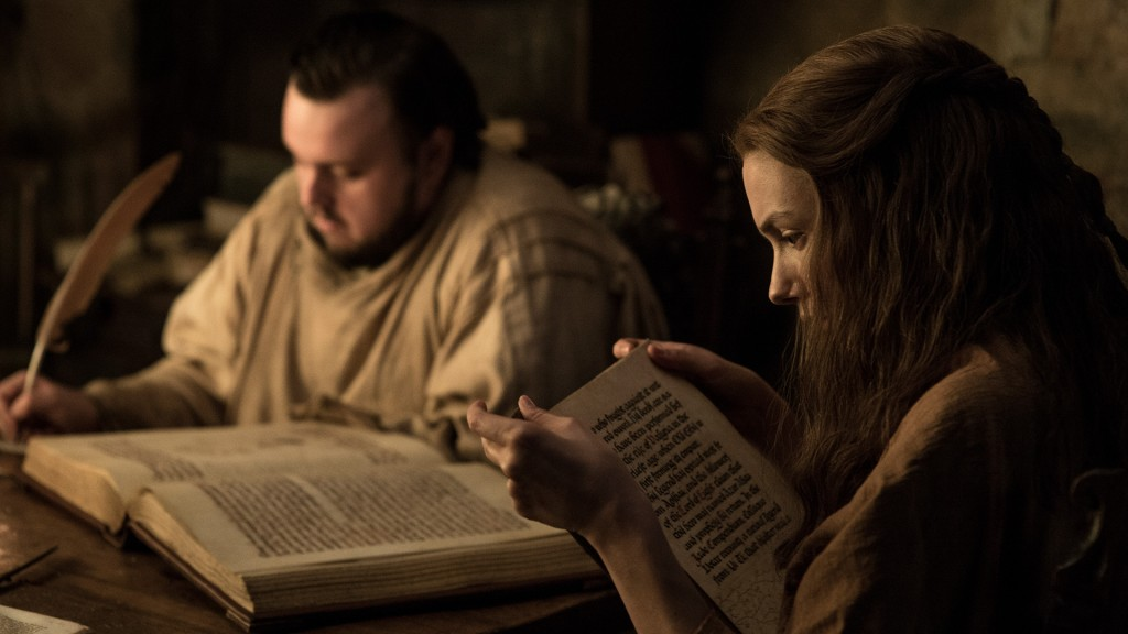 Samwell Tarly na Cidadela em Game of Thrones