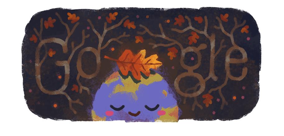 equinocio de outono doodle do google