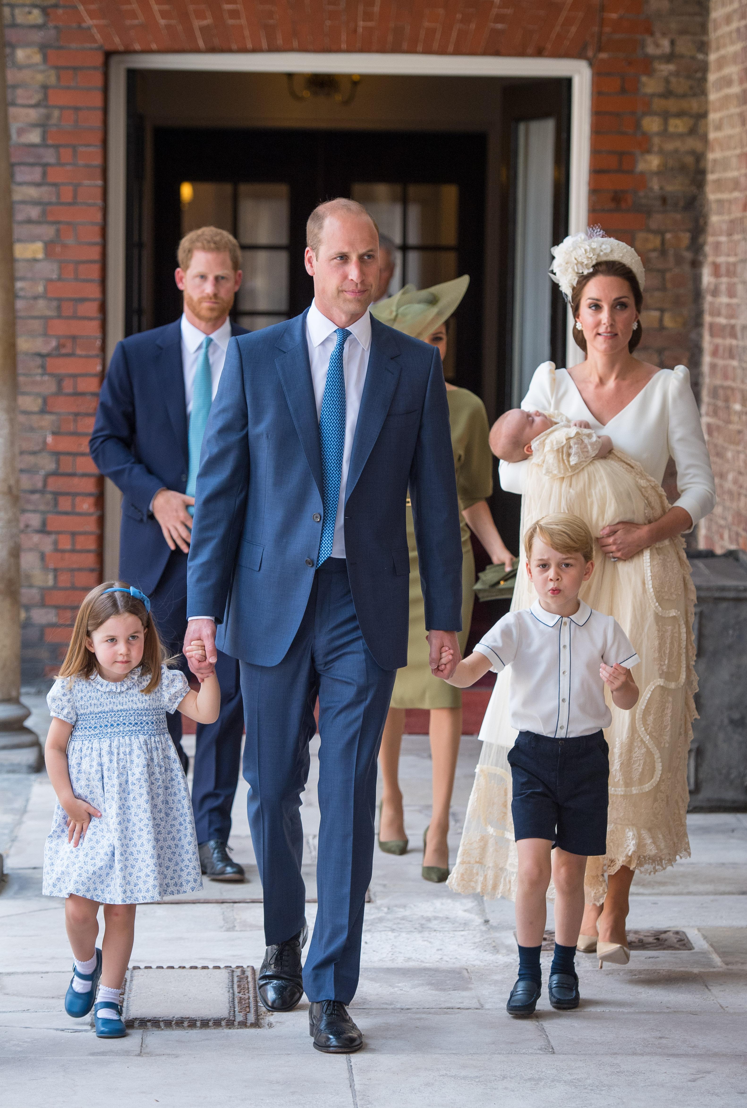 Familia batizado principe Louis