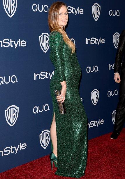<strong>Olivia Wilde</strong> // A atriz impressionou com o<strong> Gucci </strong>verde brilhante que decidiu usar no Golden Globe 2014 e na after party da InStyle. A atriz combinou com um sapato altíssimo da mesma cor.