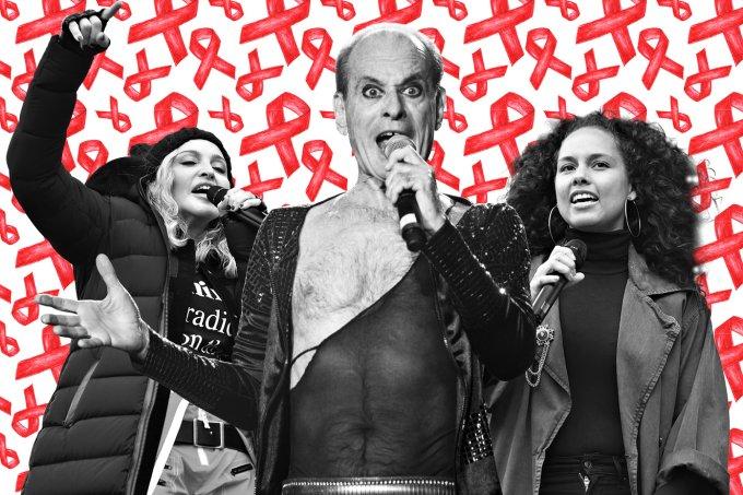 Famosos falam sobre AIDS Madonna Ney Matogrosso Alicia Keys