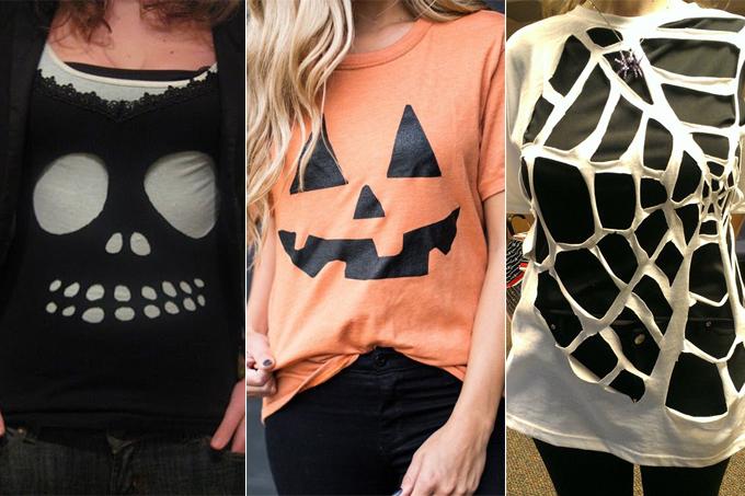 fantasias de Halloween com camiseta