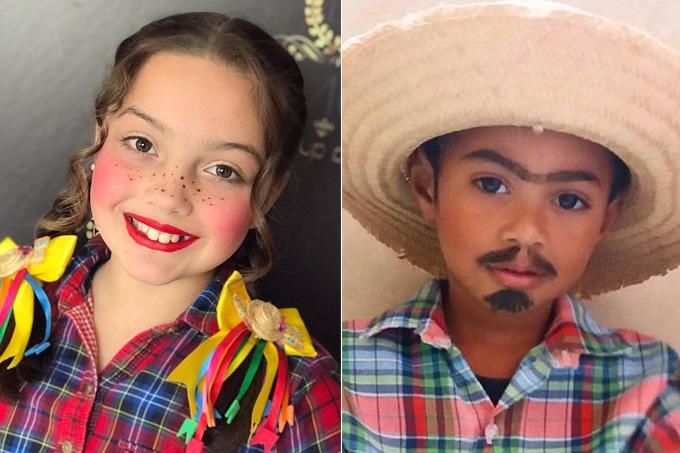 Festa junina – Inspirações de maquiagem de caipirinha para meninas e meninos – vídeos e fotos