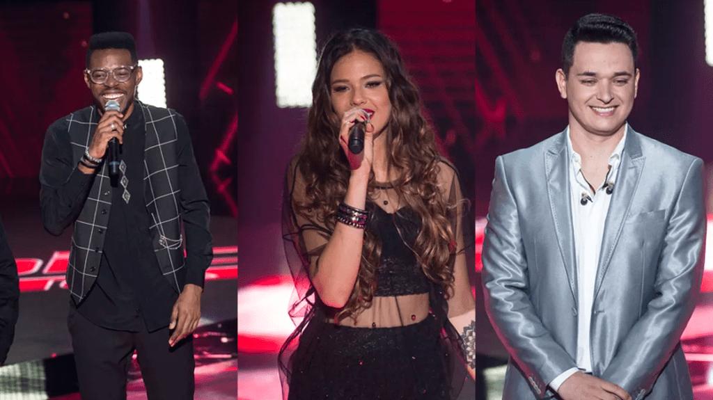 Kevin Ndjana, Erica Natusa e Leo Pain, os finalistas do The Voice Brasil (além de Isa Guerra)
