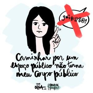 """Ilustração para a campanha """"Chega de Fiu Fiu"""", do projeto feminista Think Olga"""