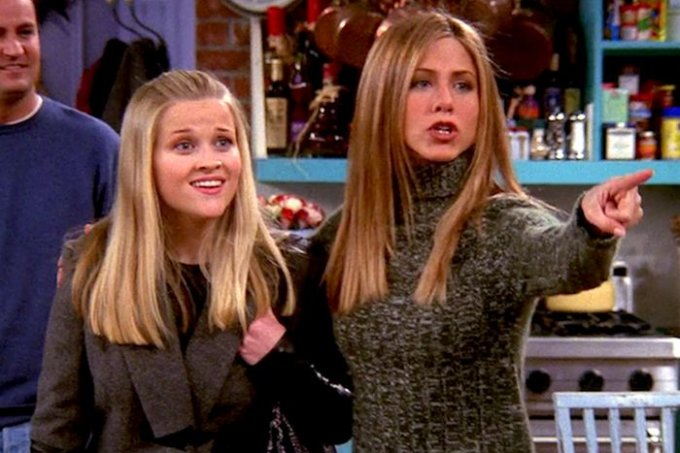 Reese Witherspoon e Jennifer Aniston em 'Friends'