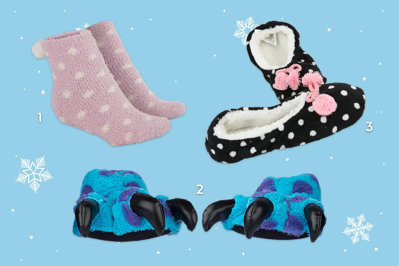 meias e pantufas para esquentar os pés no inverno 2017