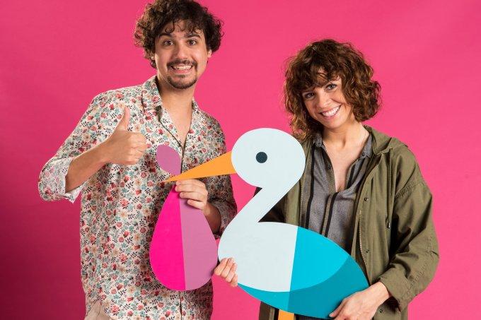 George Sauma e Renata Gaspar na série Pais de Primeira