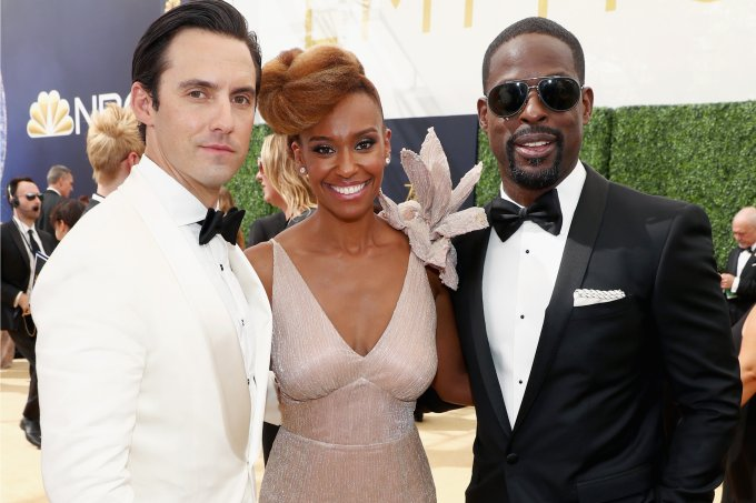 Milo Ventimiglia, Sterling K. Brown e Ryan Michelle Bathe no 70th Annual Emmy