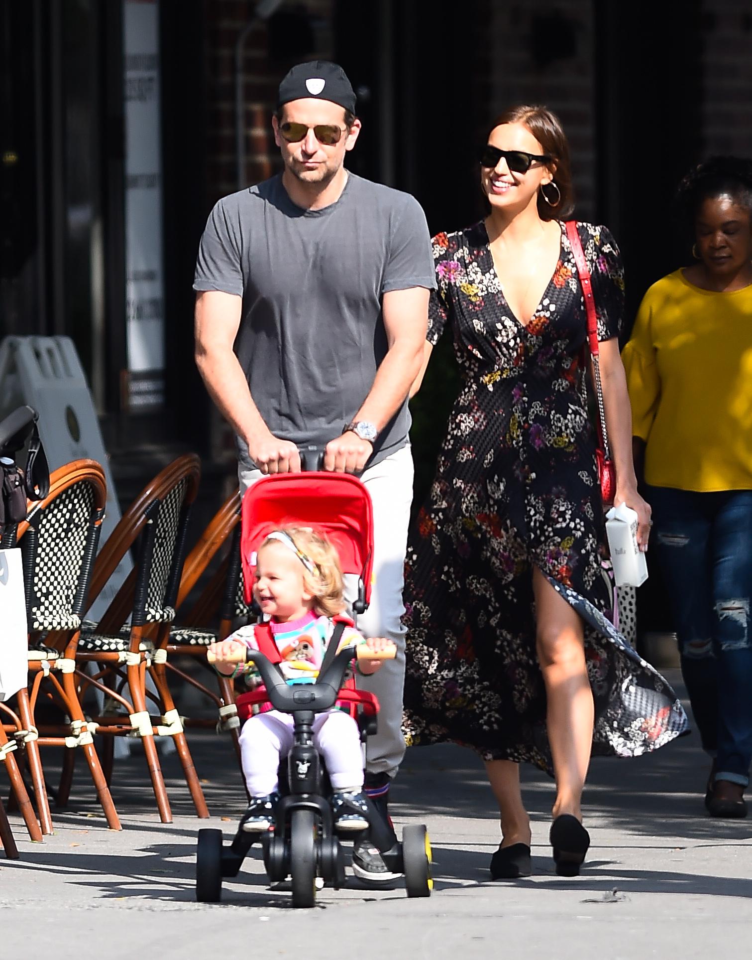 Bradley Cooper Irina Shayk e a filha Lea