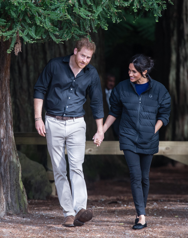 Meghan Markle usa jaqueta de Harry