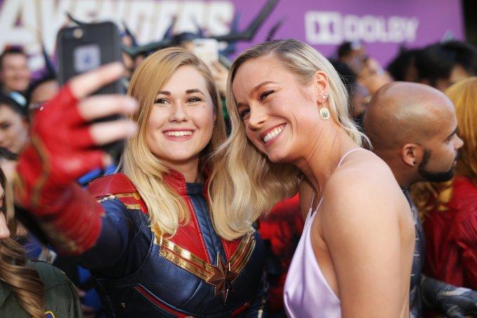 Brie Larson Vingadores Ultimato Tapete Vermelho