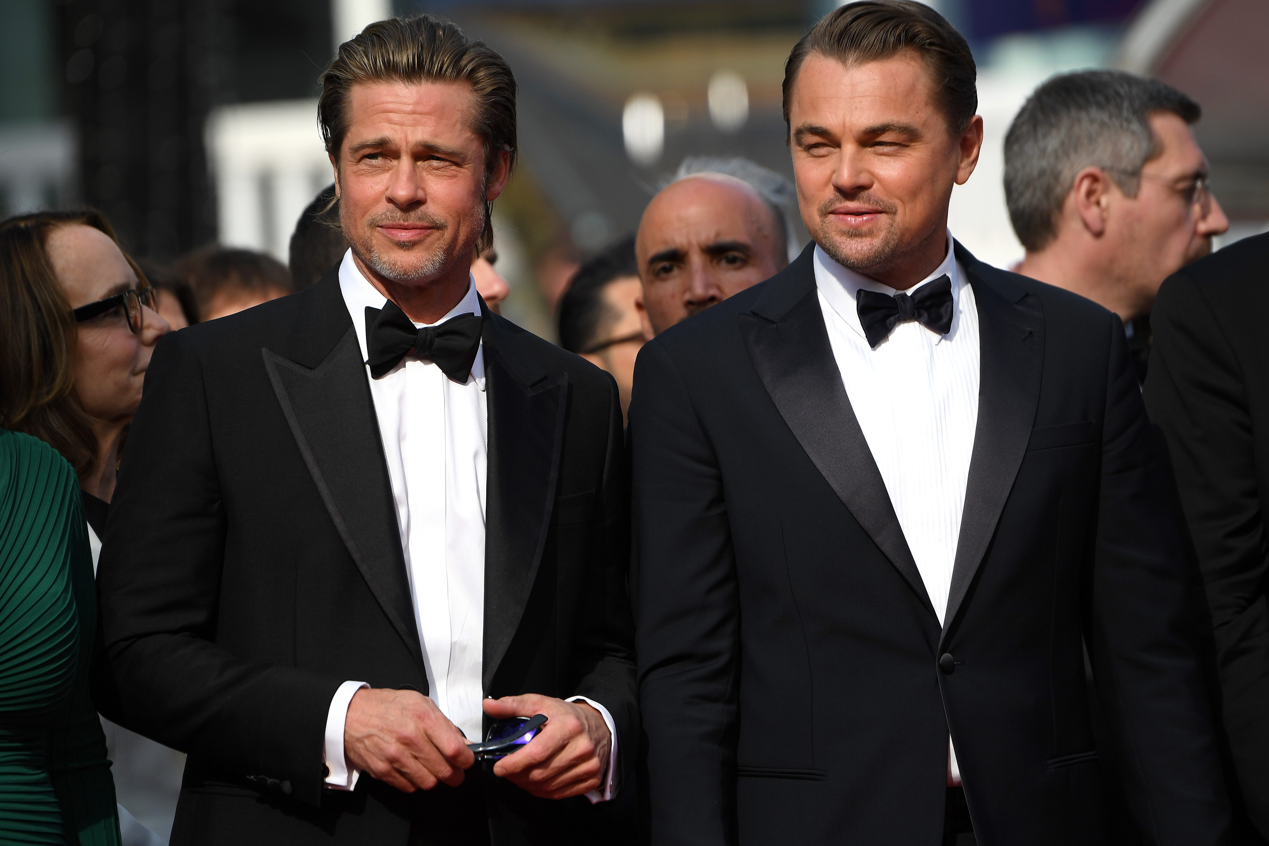 Brad Pitt e Leonardo DiCaprio em Cannes