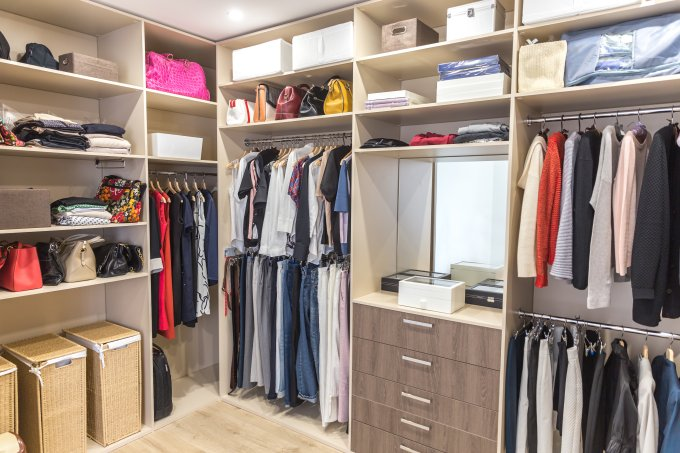 organização guarda-roupa