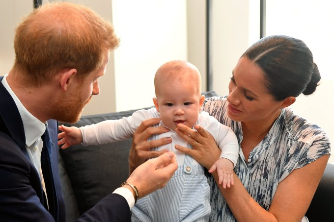 Principe Harry Archie e Meghan Markle