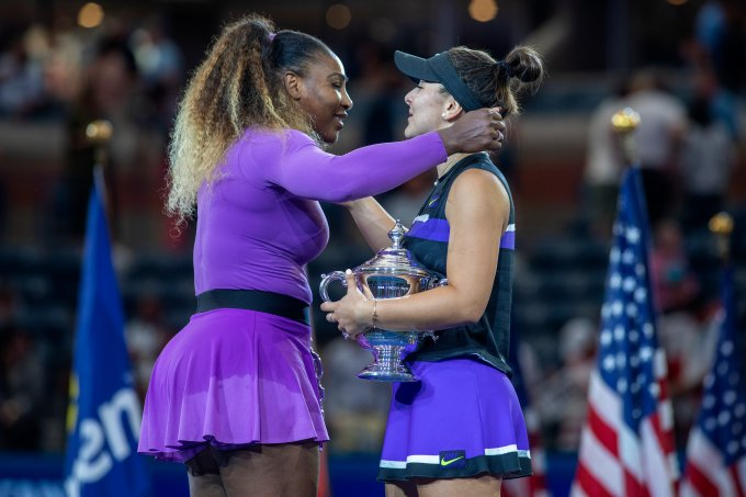 Bianca Adreescu e Serena Williams Us Open