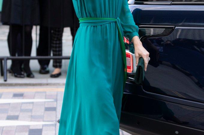 Kate Middleton Vestido Verde Azulado