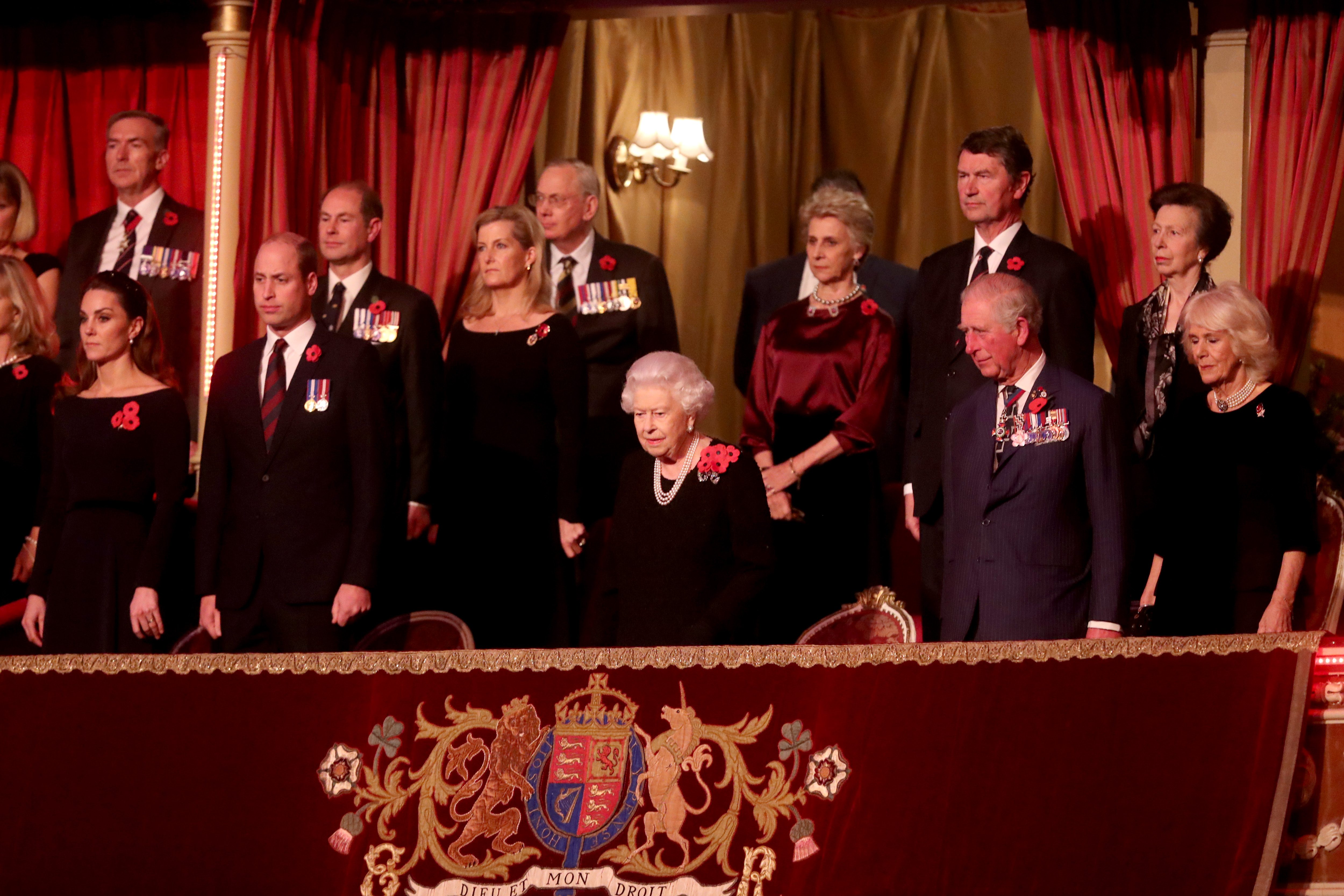 Família real no Festival Of Remembrance