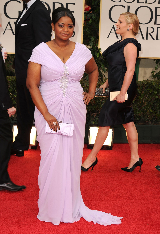 Octavia Spencer Melhores Vestidos do Globo de Ouro