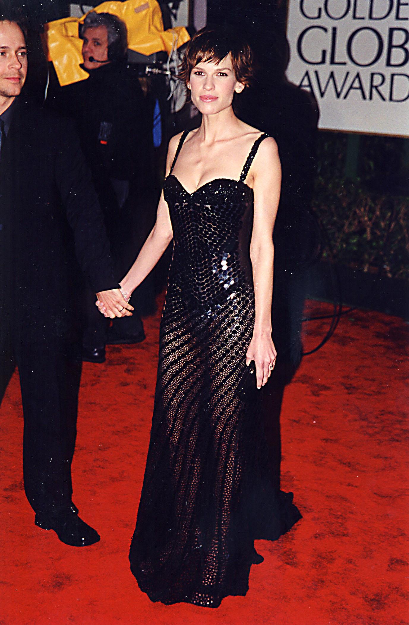 Hilary Swank Melhores Vestidos do Globo de Ouro