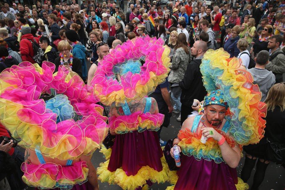 Em 2014 a cidade de Berlim teve três eventos diferentes de Orgulho LGBT. Este foi a Parada do Dia da Rua Christopher, na Avenida Kurfuerstendamm