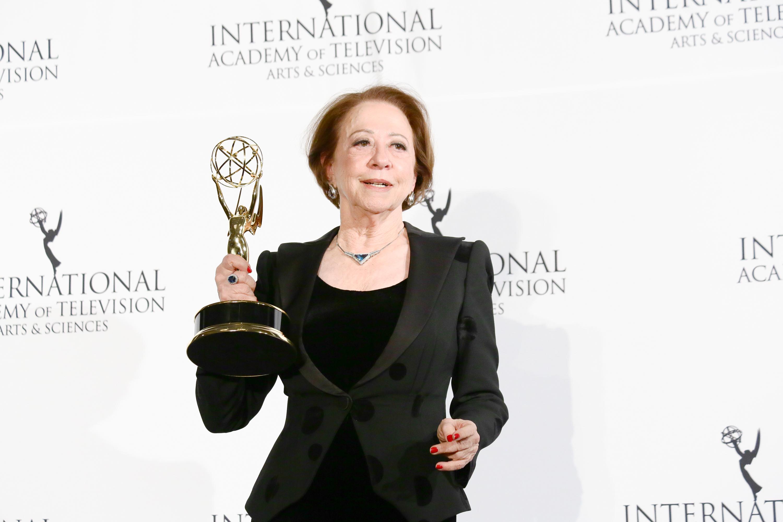 Fernanda Montenegro ganhou o prêmio de Melhor Atriz na edição do Emmy de 2013 por 'Doce de Mãe'.