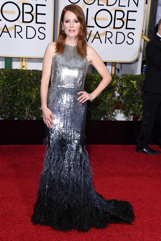 Julianne Moore Melhores Vestidos do Globo de Ouro