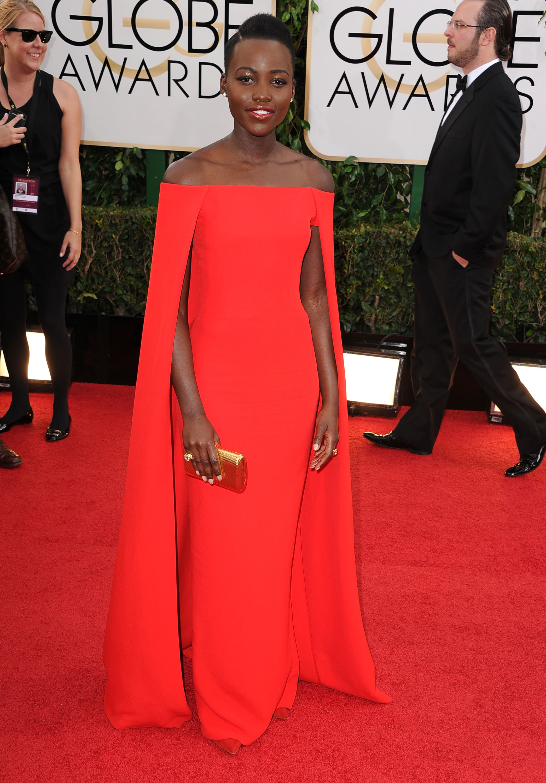 Lupita Nyong'o Globo de Ouro Melhores Vestidos