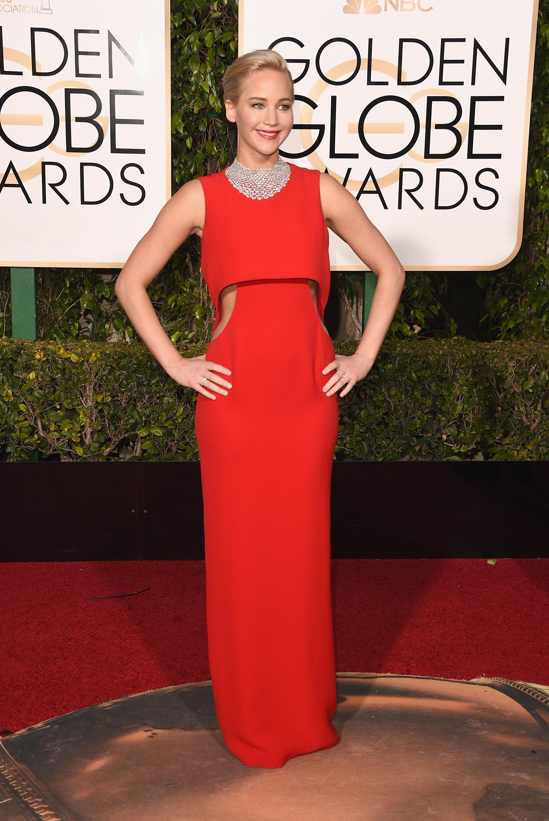 Jennifer Lawrence Globo de Ouro Melhores Vestidos