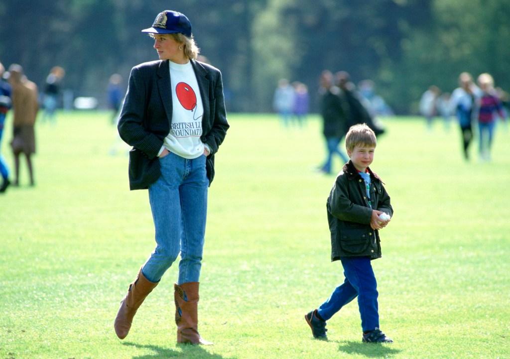 Princesa Diana e Príncipe William
