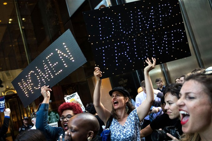 Anti-Trump Activists Protest Outside Of Trump Tower