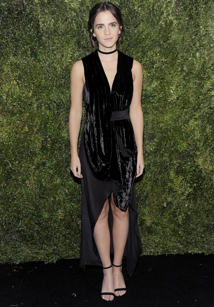 NEW YORK, NY - NOVEMBER 15: Actor Emma Watson attends the 2016 Museum Of Modern Art Film Benefit - A Tribute To Tom Hanks at Museum of Modern Art on November 15, 2016 in New York City. (Photo by Rabbani and Solimene Photography/Getty Images)