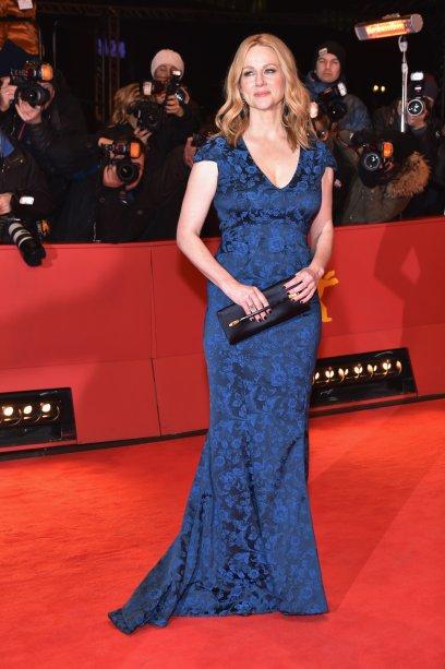 A atriz <b>Laura Linney</b> na première de <i>The Dinner</i>.