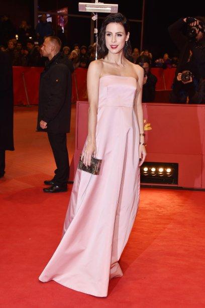 A atriz <b>Lena Meyer-Landrut</b> na première de <i>T2 Trainspotting</i>.