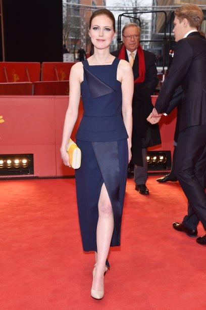 A atriz <b>Patrycja Volny</b> na première de <i>Spoor</i>.