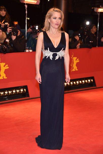 <b>Gillian Anderson</b> na première de <i>Viceroy's House</i>.