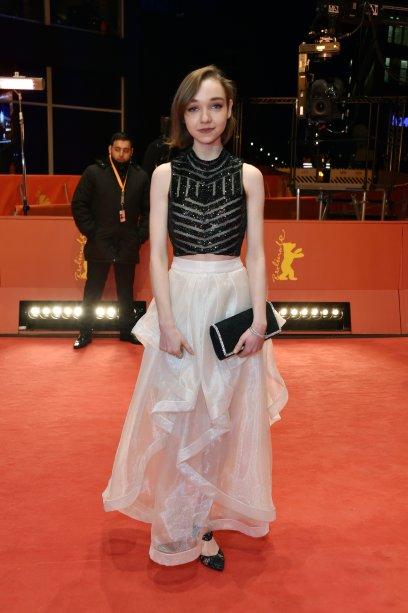A atriz <b>Julia Sarah</b> na première de <i>Beuys</i>.