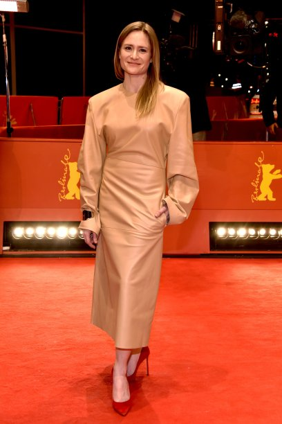 "<b>Julia Jentsch</b><span style=""text-align: start; float: none;"">, membro do júri do Berlinale, na première de <i>Beuys</i>.</span>"