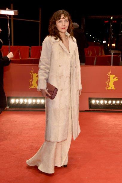 A atriz e membro do júri, <b>Maggie Gyllenhaal</b>, de <b>Prada</b>, na première de <i>Beuys</i>.
