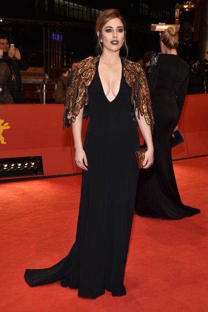 A atriz <b>Blanca Suarez</b> na première de <i>The Bar</i>.