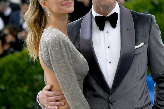 Gisele Bundchen e Tom Brady no MET Gala