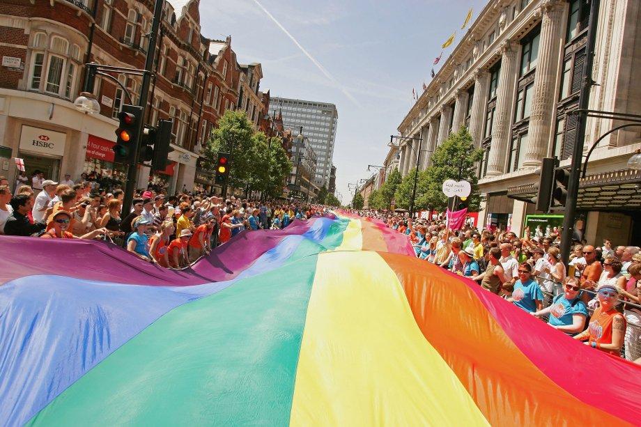 Parada do Orgulho LGBT em Londres, na Inglaterra