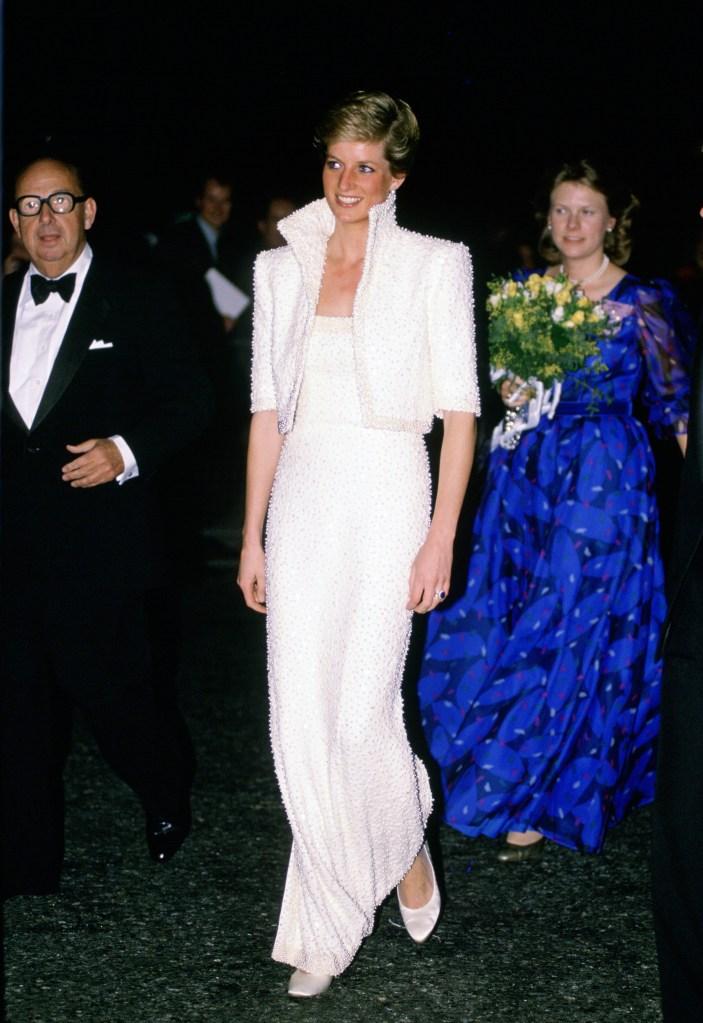 Princesa Diana no British Fashion Awards