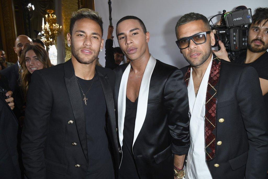 Daniel Alves, Olivier Rousteing e Neymar