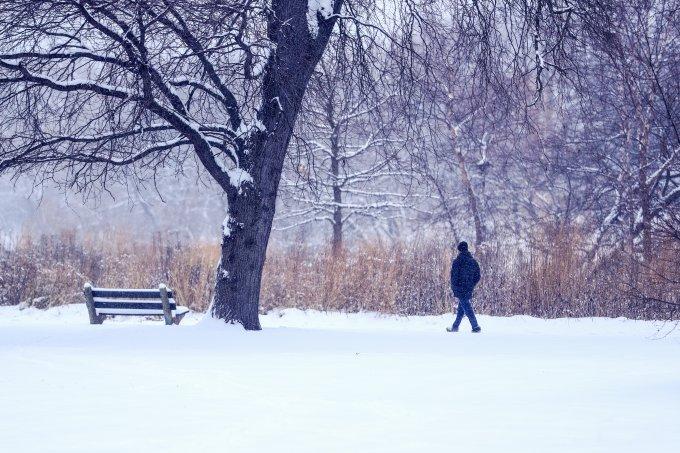 Inverno muito frio em Chicago