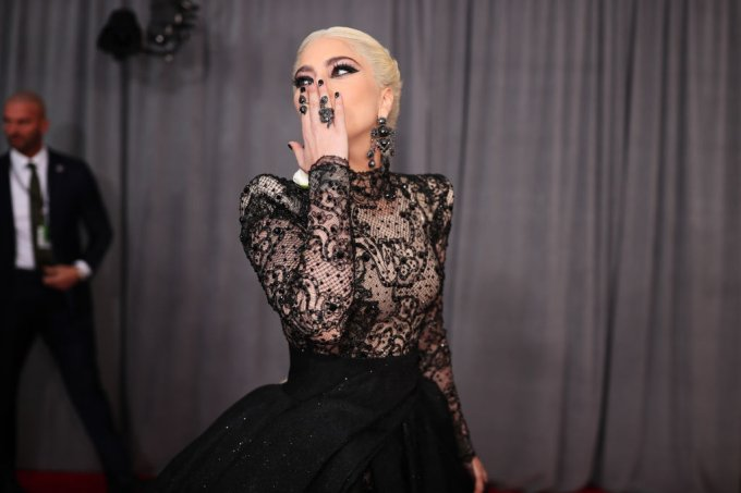 Lady gaga no 60th Annual GRAMMY Awards – Red Carpet